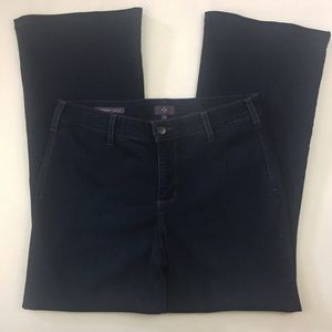 NYDJ Women's Jeans Wide Leg Dark Wash Sz 12P